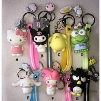 Hot Produk Gantungan Kunci Tas Cute Imut Lucu Hello Kitty Keroppi
