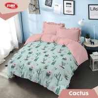 Kintakun DLuxe Bed Cover Set Uk. 180x200 Motif - Cactus