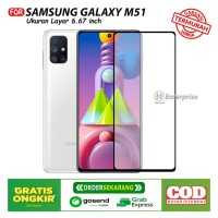 Tempered Glass Full for Samsung Galaxy M51 Anti Gores Kaca Full Layar