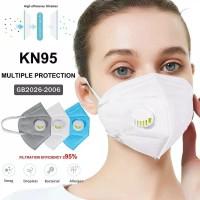 Masker Filter Respirator velve KN95 5ply masker dengan katup udara N95