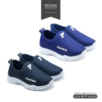 Faster Kids - Sepatu Sneakers Slip On Anak 1706-1758 Size 26-31 - Merah Muda, 30