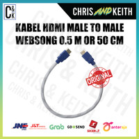KABEL HDMI MALE TO M WEBSONG 0.5 M OR 50 CM (WHITE) Promo