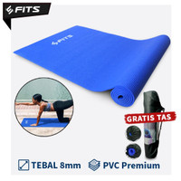 SFIDN FITS Matras / Mat Yoga Standart Matras Karet Mat Olahraga Senam - Biru