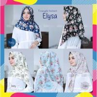Jilbab Kerudung Hijab Instan Segiempat Motif Bunga/Instant segi empat