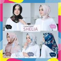Jilbab Kerudung Hijab Instan Segiempat Motif Bunga/Segi empat instant