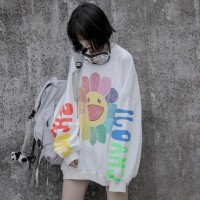 Kaos T Shirt BTS Style Model Semi Dress Longgar Sunflower