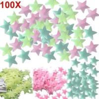 Stiker Bintang Glow In The Dark Star Wall Sticker isi 100 Pcs