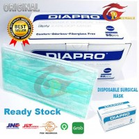 Masker Diapro Earloop 3 Ply - Surgical Mask Ready Stock
