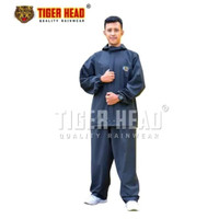 TIGER HEAD KARET Jas Hujan Karet Tebal Full Rubber Press Mirip ASV 1
