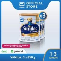 Similac GainPlus 850 g (1-3 tahun) Susu Pertumbuhan - 3 klg