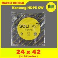 Kantong Plastik Kresek Hitam Tebal UK 24x42 HDPE