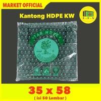 Kantong Plastik Kresek Hitam Tebal UK 35x58 HDPE