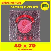 Kantong Plastik Kresek Hitam Tebal UK 40x70 HDPE