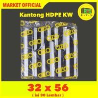 Kantong Plastik Kresek Salur Tebal UK 32x56 HDPE