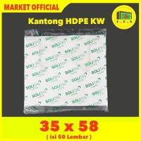Kantong Plastik Kresek Putih Tebal UK 35x58 HDPE