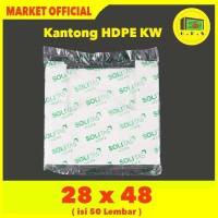 Kantong Plastik Kresek Putih Tebal UK 28x48 HDPE