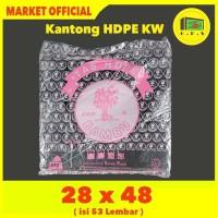 Kantong Plastik Kresek Hitam Tebal UK 28x48 HDPE