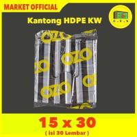 Kantong Plastik Kresek Salur Tebal UK 15x30 HDPE