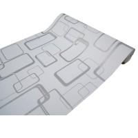 Walpaper Dindin Wallpaper Sticker Dinding Putih Kotak 3D - 45cm x 10 m