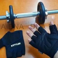 Sarung Tangan Fitness & Gym KETTLER 0988 ORIGINAL - Black Yellow, M
