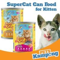 Makanan kucing kecil kaleng Supercat Kitten 400gr