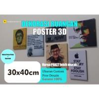 Hiasan Dinding Poster 30x40cm/ beli 4pcs 140.000