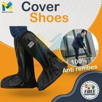 Jas Hujan Sepatu / Rain Cover Shoes / Sarung Sepatu - S, Hitam