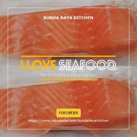 Premium Ikan Salmon Fillet Frozen / Import / @200Gram/Resto Quality !!