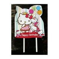 topper tusukan hiasan kue cake tart ulang tahun karakter hello kitty