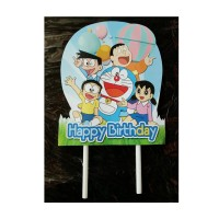 topper tusukan hiasan kue cake tart ulang tahun karakter doraemon