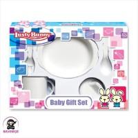 LUSTY BUNNY Baby Feeding Gift Set Alat Makan Bayi isi 5 - LB 1406