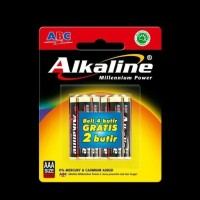 BATERAI ABC ALKALINE AAA/A3- 6Pcs | BATTERY ABC ALKALINE AAA - 6Pcs - AAA6