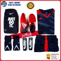 Sepatu futsal Adidas X merah kombinasi hitam - 39