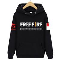 sweater hoodie freefire garena bendera anak dewasa unisex pria wanita
