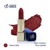 Inez Color Contour Plus Lipstick - Tawny Red (New Case)