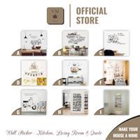 VineMaple Kitchen, Living Room & Quote - Stiker Dinding / Wall Sticker - Motif C