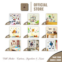 VineMaple Cartoon, Superhero & Music - Stiker Dinding / Wall Sticker - Motif D