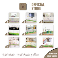 VineMaple Wall Border & Fence - Stiker Dinding / Wall Sticker - Motif L