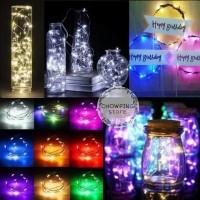 Lampu Tumblr Kawat / Lampu Hias LED Kawat 1 Meter Isi 10 LED - Rainbow