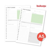 A5 Loose leaf - Daily Planner 80 gsm by Bukuqu