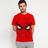 kaos distro superhero avengers SPIDERMAN FACE SPANDEX