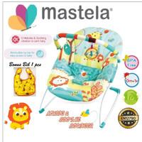 MASTELA Baby Bouncer 1 Recline BLUE- GIRAFFE - 6703
