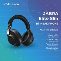 Jabra Elite 85h Wireless Noise Canceling Headphones - Black