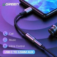 UGREEN Audio Cable Kabel Connector Type C to 3.5 mm AUX Jack HI FI