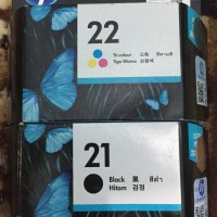 TINTA CATRIDGE HP 22/21 BLACK/COLOUR PAKETAN ORIGINAL
