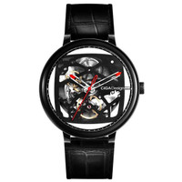 Xiaomi CIGA T Series Jam Tangan Mechanical Watch Skeleton Model Bulat - Hitam