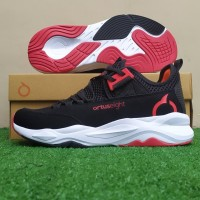 Sepatu Running Sneakers Ortuseight Colosus - Black/Ortred/White