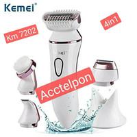 Kemei Km-7202 Pencukur Rambut Epilator 4 In 1 untuk wanita