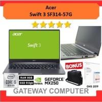 Acer Swift 3 SF314-57G   i5 1035G1 8GB 512ssd MX250 2GB W10+OHS 14FHD