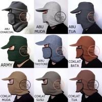 Topi Jepang Masker Samping / Topi Mancing / Topi Masker Jepang - Navy